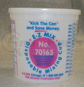 70165 by E-Z MIX - 5-Quart Plastic Mixing Cups, box of 25