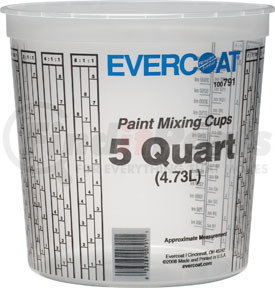 791 by FIBRE GLASS-EVERCOAT - 5 Quart Paint Mixing Cups 25 Pack