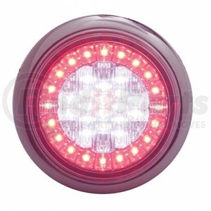 39968B-2 by UNITED PACIFIC - Pair of Euro LED Stop Turn Tail Lights Multi-Color White/Red LED/Clear Lens
