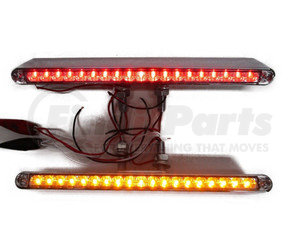 """37944-2 by UNITED PACIFIC - Pair (2)of 12""""L 19 LED Red/Amber Double Face Truck Semi Trailer Light Bars"""