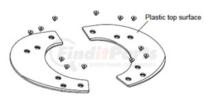 SK3106-003 by JOST - • Composite Low Lube Plate Replacement Kit • 2 Plates, 12 Bolts