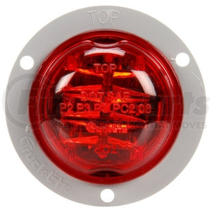 30279R by TRUCK-LITE - Red LED Lamp and Gray Flange