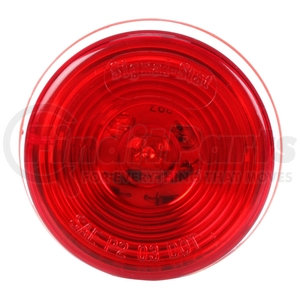 """3058 by TRUCK-LITE - Signal-Stat, 2"""" Round, LED, Red Round, 1 Diodes, Marker Clearance Light, P2, PL-10, 12V"""
