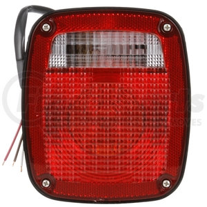 4027D by TRUCK-LITE - Signal-Stat, Incandescent, Red/Clear Acrylic Lens, Universal, Combo Box Light, 3 Stud , Hardwired, Stripped End, 12V, Display