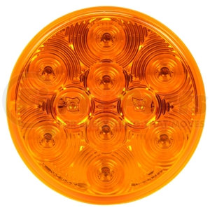 4058A by TRUCK-LITE - Signal-Stat, LED, Yellow Round, 10 Diode, Front/Park/Turn, 12V, PL-3