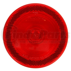 40015R by TRUCK-LITE - 40 Series, Incandescent, Red, Round, 1 Bulb, Stop/Turn/Tail, Black Grommet Mount, Reflectorized, PL-3, Stripped End/Ring Terminal, 12V, Kit