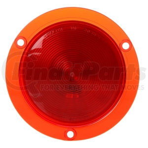 40229R by TRUCK-LITE - 40 Economy, Incandescent, Red, Round, 1 Bulb, Stop/Turn/Tail, Red Flange Mount, PL-3, 12V