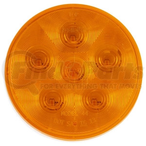 44280Y by TRUCK-LITE - Super 44, Diamond Shell, LED, Yellow Round, 6 Diode, Rear Turn Signal, Fit 'N Forget S.S., 12V