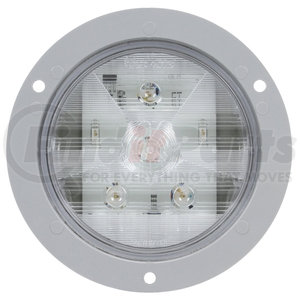 44344C by TRUCK-LITE - Clear, Gray Flange