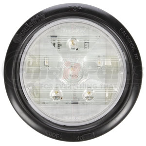 44180C by TRUCK-LITE - Super 44, LED, Clear Round, 6 Diode, Back-Up Light, Black Grommet Mount, Fit 'N Forget S.S., Female PL-2, 12V, Kit