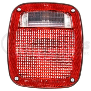 5315Y101 by TRUCK-LITE - Signal-Stat, Incandescent, Red/Clear Polycarbonate Lens, Universal, Combo Box Light, 3 Stud , License Light, Packard , 12V
