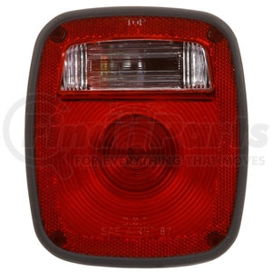 5015 by TRUCK-LITE - Signal-Stat, Incandescent, Red/Clear Acrylic Lens, LH, Combo Box Light, 2 Stud , License Light, Packard , 12V