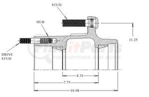 26431--MLT by WEBB - HUB ABS 10 STUD