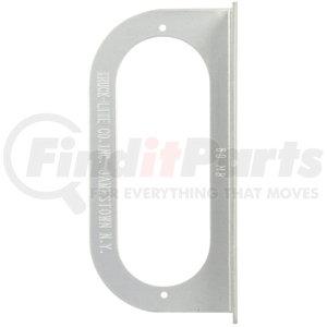 60723 by TRUCK-LITE - Bracket Mount, 60 Series Lights, Used In Oval Shape Lights, Silver Aluminum, 2 Screw Bracket Mount