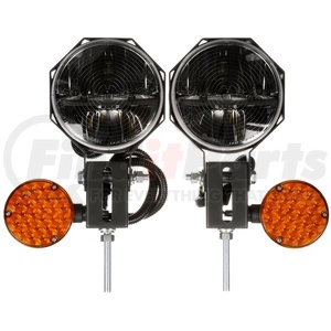 80990 by TRUCK-LITE -  Heated Lens, Universal, LED, 7 in. Round, Snow Plow Light, 23 Diode, Polycarbonate, 12-24V, Kit