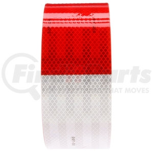 98102 by TRUCK-LITE - Red/White Reflective Tape, 3 in. x 150 ft.