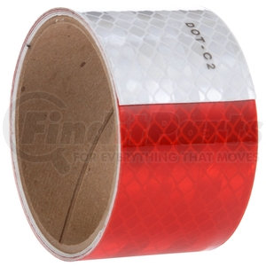 98138 by TRUCK-LITE - Red/White Reflective Tape, 2 in. x 54 in., Strip