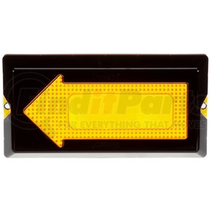 99152 by TRUCK-LITE - Arrow Lens, Rectangular, Yellow, Polycarbonate, Replacement Lens for Signal Lighting Lights (40802, 40803, 40804, 40805), Snap-Fit