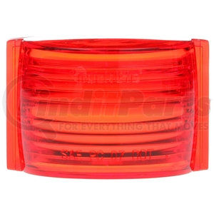 99160R by TRUCK-LITE - Rectangular, Red, Acrylic, Replacement Lens for M/C Lights (26311R, 26313R), Signal Stat (1113, 1114), Snap-Fit