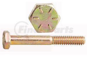 "0115111 by FASTENAL - 3/8""-16 x 2"" Grade 8 Yellow Zinc Finish Hex Cap Screw"