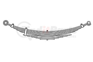 14-104 by TRIANGLE SUSPENSION SYSTEMS CO. - Bluebird, F Spr, Lvs:6/5 ; OEM# 1042779; SE Length: 30-1/4; LE Length: 30-1/4; SE End: RNK-b; LE End: RNK-b; Grading 6/499, 5/558
