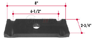 E746-22 by TRIANGLE SUSPENSION SYSTEMS CO. - GM U-Bolt Top Plate