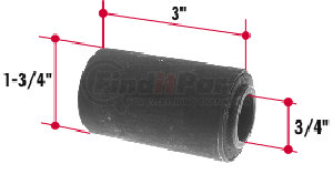 RB135 by TRIANGLE SUSPENSION SYSTEMS CO. - Rubber Encased Bushing