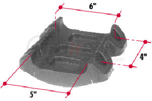 H184 by TRIANGLE SUSPENSION SYSTEMS CO. - Hutchens Bottom U-Bolt Plate for 4x6 Axle