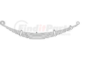 43-702 by TRIANGLE SUSPENSION SYSTEMS CO. - Freightliner, F Spr, Lvs:10/WG ; OEM# A1616390000; SE Length: 25; LE Length: 29; SE End: RNK; LE End: RNK; Grading 6/447, 4/375