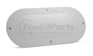 94390-4 by GROTE - Snap-In Cover Plate, 6in. Oval, Gray
