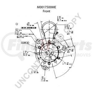 M0017500ME by LEECE NEVILLE - Heavy Duty Starter Motor