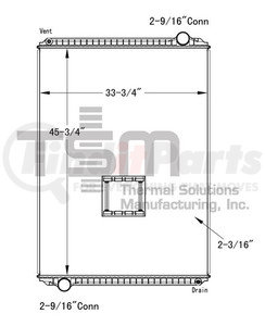 0437262P by THERMAL SOLUTIONS MFG. - Radiator