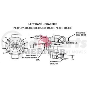 A13111Z3276 by MERITOR - MERITOR GENUINE - FRONT AXLE - STEERING KNUCKLE ASSEMBLY