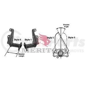H723299P6256 by MERITOR - MERITOR GENUINE - AIR BRAKE - CHAMBER BRACKET