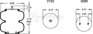 W013586927 by FIRESTONE - 20F2 AIR SPRING