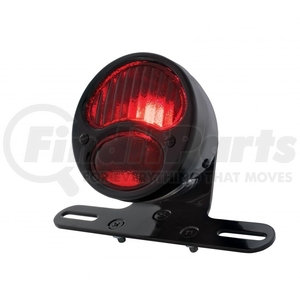 """20292 by UNITED PACIFIC - """"DUO Lamp"""" Motorcycle Rear Fender Tail Light w/ Red Glass Lens"""