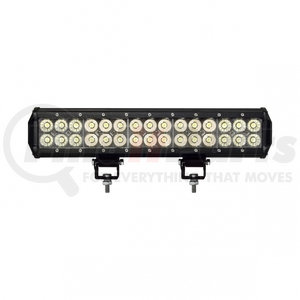 """36638 by UNITED PACIFIC - 30 High Power LED Dual Row 14 1/2"""" Light Bar - Stud Mount"""