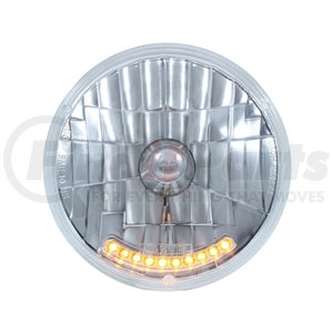 """S2010LED by UNITED PACIFIC - 7"""" Halogen Crystal Headlight With 10 LED Position Lights"""