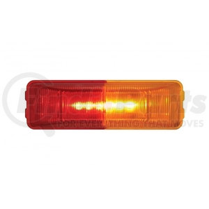 36774B by UNITED PACIFIC - 6 LED Rectangular Fender Mount Clearance/Marker Light With Amber & Red Lens