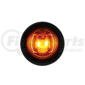 36849B by UNITED PACIFIC - 2 LED Mini Clearance/Marker Light w/ Rubber Grommet - Amber LED/Amber Lens