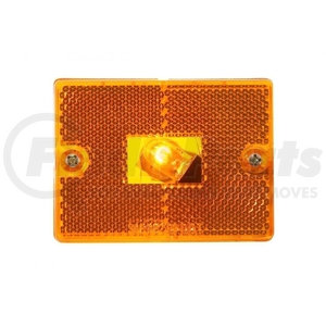 36008 by UNITED PACIFIC - Rectangular Clearance/Marker Light w/ Reflex Lens - Amber Lens