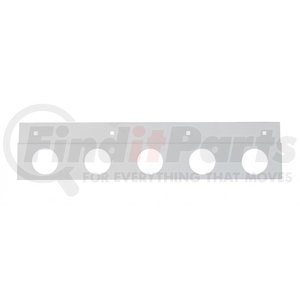 """21397 by UNITED PACIFIC - Stainless Top Mud Flap Plate - Five 2"""" Light Cutout"""