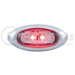 37173B by UNITED PACIFIC - 2 LED Clearance/Marker Light w/ Bezel - Red LED/Clear Lens