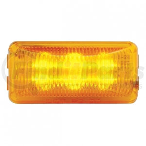 38158B by UNITED PACIFIC - 6 LED Rectangular Clearance/Marker Light - Amber LED/Amber Lens
