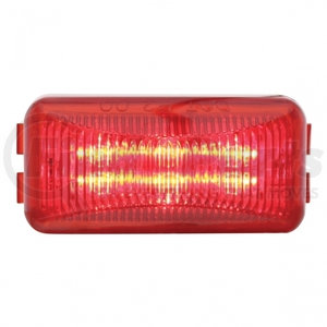 38159B by UNITED PACIFIC - 6 LED Rectangular Clearance/Marker Light - Red LED/Red Lens