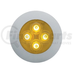 38931 by UNITED PACIFIC - 4 LED Dome Light - Amber LED/Clear Lens
