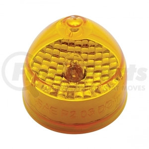 """33507 by UNITED PACIFIC - 2"""" Beehive Crystal Clearance/Marker Light - Amber Lens"""