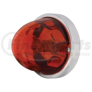 20715 by UNITED PACIFIC - Original Large Glass Marker Light - Dark Amber