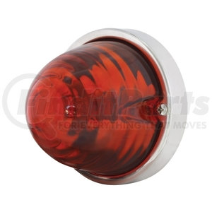 20717 by UNITED PACIFIC - Beehive Large Glass Marker Light - Dark Amber
