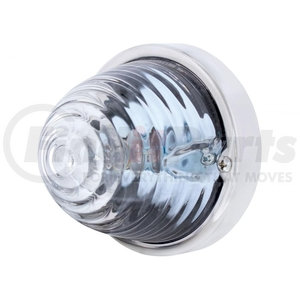 20718 by UNITED PACIFIC - Beehive Large Glass Marker Light - Clear
